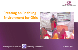 Creating an enabling Environment for Girls