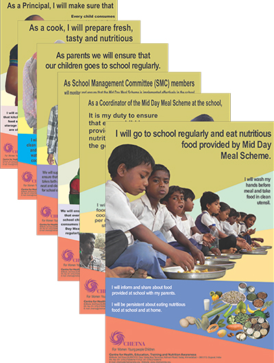 Posters on School Nutrition Education to strengthen Mid Day Meal (MDM) Programme
