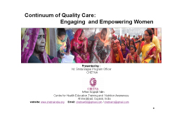 Safeguarding Womens Right to Continuum of Quality Care