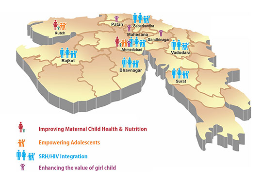 Districts of Gujarat Where Chetna India is working
