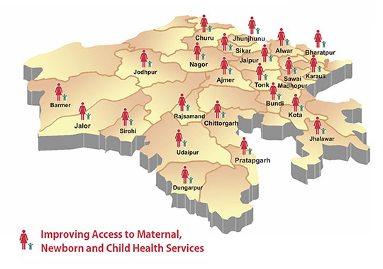 Districts of Rajasthan Where Chetna India is working