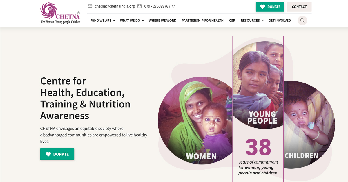 Top NGO in India to Support Women, Young People & Children